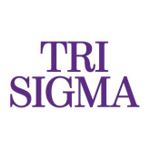 Large Decal-Tri Sigma Stacked - Official, 12 inches wide
