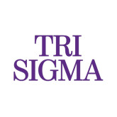Small Decal-Tri Sigma Stacked - Official, 6 inches wide