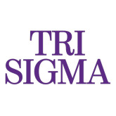 Extra Large Decal-Tri Sigma Stacked - Official, 18 inches wide