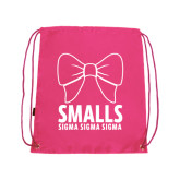 Pink Drawstring Backpack-Smalls Bow