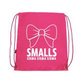 Pink Drawstring Backpack-Smalls Bow