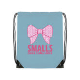 Light Blue Drawstring Backpack-Smalls Bow