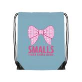 Light Blue Drawstring Backpack-Smalls Bow