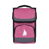 Passion Pink Flap Lunch Cooler-Sailboat