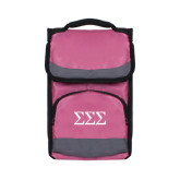 Passion Pink Flap Lunch Cooler-Greek Letters - One Color