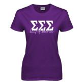 Ladies Purple T Shirt-Service Day