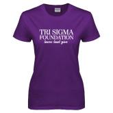 Ladies Purple T Shirt-Tri Sigma Foundation