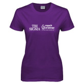 Ladies Purple T Shirt-March of Dimes w Tageline