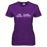 Ladies Purple T Shirt-March of Dimes w Tageline