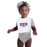 White Baby Bib-Legacy Greek Style Ltrs