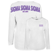 White Game Day Jersey Tee-Greek Letters - One Color
