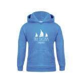 Youth Light Blue Fleece Hoodie-Legacy 3 Sailboats