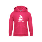 Youth Raspberry Fleece Hoodie-Future Tri Sigma Sailboat