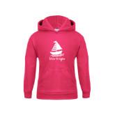 Youth Raspberry Fleece Hoodie-Future Tri Sigma Sailboat