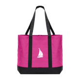 Tropical Pink/Dark Charcoal Day Tote-Sailboat