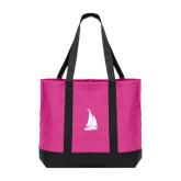 Tropical Pink/Dark Charcoal Day Tote-Sailboat