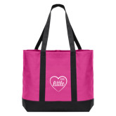 Tropical Pink/Dark Charcoal Day Tote-Little in Heart