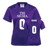 Ladies Purple Replica Football Jersey-Personalized Tri Sigma