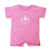 Bubble Gum Pink Infant Romper-Legacy 3 Sailboats