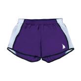 Ladies Purple/White Team Short-Sailboat