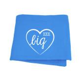 Light Blue Sweatshirt Blanket-Big in Heart