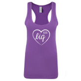 Next Level Ladies Purple Berry Jersey Racerback Tank-Big in Heart