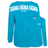Turquoise Game Day Jersey Tee-Greek Letters - One Color