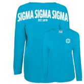 Turquoise Game Day Jersey Tee-Monogram in Circle