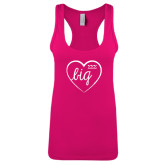 Next Level Ladies Raspberry Ideal Racerback Tank-Big in Heart