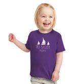 Toddler Purple T Shirt-Legacy 3 Sailboats