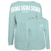 Mint Game Day Jersey Tee-Greek Letters - One Color