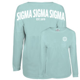 Mint Game Day Jersey Tee-Monogram in Circle