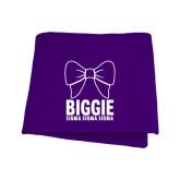 Purple Sweatshirt Blanket-Biggie Bow