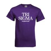 Purple T Shirt-Tri Sigma Empowered