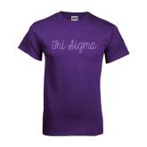 Purple T Shirt-Curly Script Tri Sigma