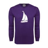 Purple Long Sleeve T Shirt-Sailboat