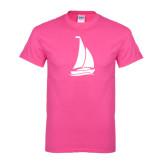 Hot Pink T Shirt-Sailboat