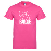 Hot Pink T Shirt-Biggie Bow