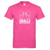 Hot Pink T Shirt-Smalls Bow