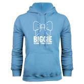 Light Blue Fleece Hoodie-Biggie Bow