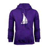 Purple Fleece Hoodie-Sailboat