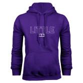 Purple Fleece Hoodie-Block Letters w/ Pattern Little