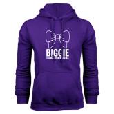 Purple Fleece Hoodie-Biggie Bow