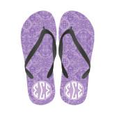 Ladies Full Color Flip Flops-Seaglass India Pattern