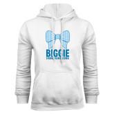 White Fleece Hoodie-Biggie Bow