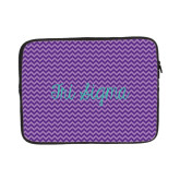 13 inch Neoprene Laptop Sleeve-Purple Chevron Pattern