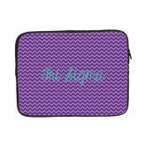 13 inch Neoprene Laptop Sleeve-Purple Chevron Pattern
