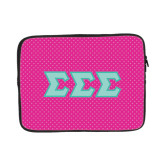 13 inch Neoprene Laptop Sleeve-Pink Dot Pattern