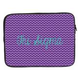 15 inch Neoprene Laptop Sleeve-Purple Chevron Pattern