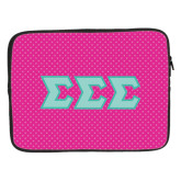 15 inch Neoprene Laptop Sleeve-Pink Dot Pattern